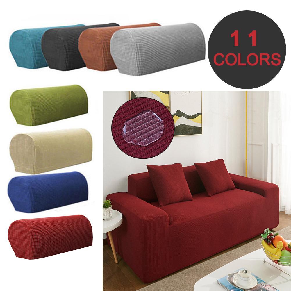 Capa para sofá estilo 1 par braço removível estiramento-sofá sofá cadeira poltrona cobre braço capa de sofá sólido