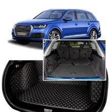 Audi q7 7 seats 2014-2017 용 풀 커버 시트 패드화물 상자 트렁크 플로어 매트 카펫 라이너