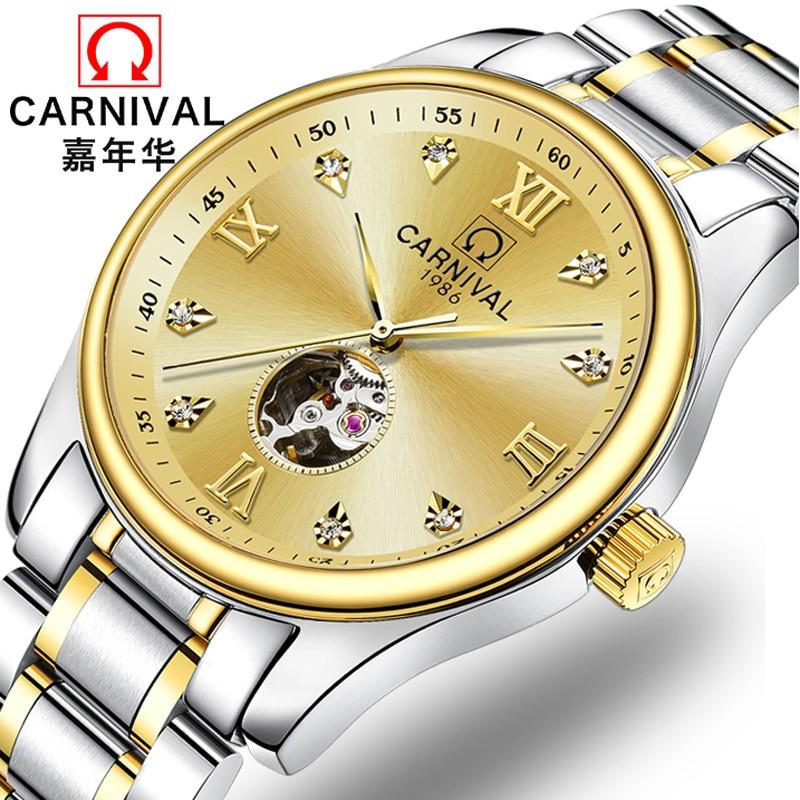 Relojes de lujo de marca de diamante de Suiza para hombre, relojes automáticos de viento propio, relojes de zafiro para hombre, relojes de esqueleto para C8790-2