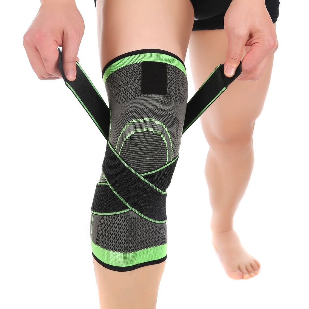 Спортивные наколенники для фитнеса, поддерживающие повязки, эластичные Нейлоновые Спортивные Компрессионные рукава для баскетбола