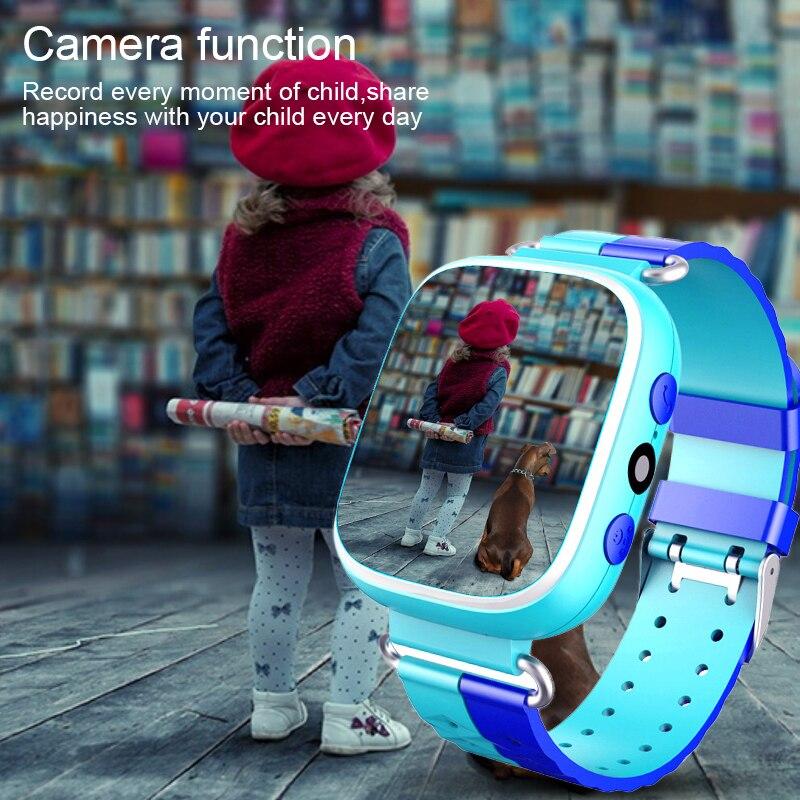 Tela colorida crianças anti-perdido inteligente telefone lbs posicionamento sos relógio estudante esporte bebê cuidados saudáveis relógio sim com câmera