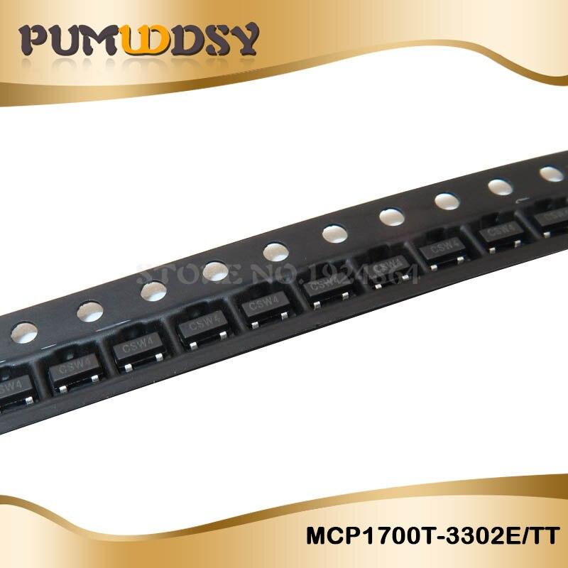 10 шт. MCP1700T-3302E/TT MCP1700T-3302 MCP1700 SOT23