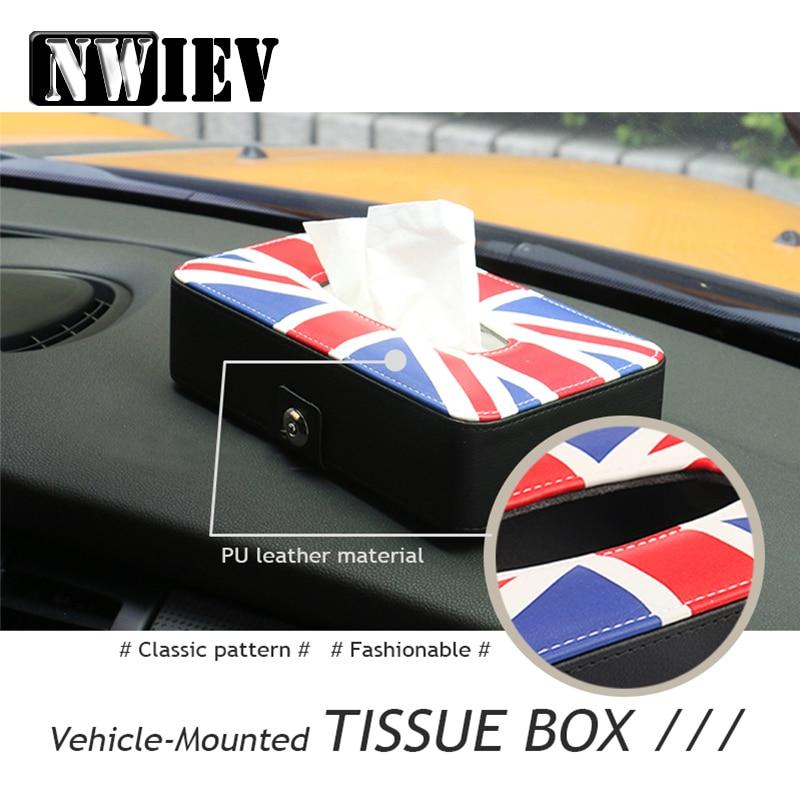 NWIEV Car Styling For Audi A4 B6 B8 VW Passat B5 B7 Skoda Octavia A7 A5 Renault Megane 2 3 Tissue Box Paper Holder Accessories