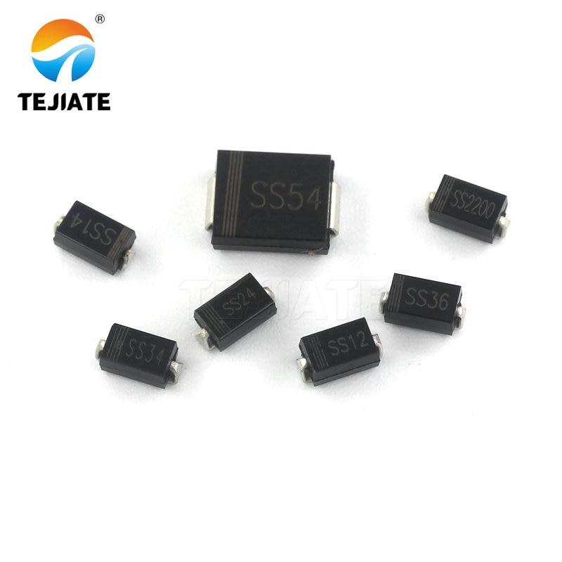 SMD diode Schottky SS34 SS14 SS12 SS36 SS54 ss2200 SMA/DO-214AC SMC/DO-214AB