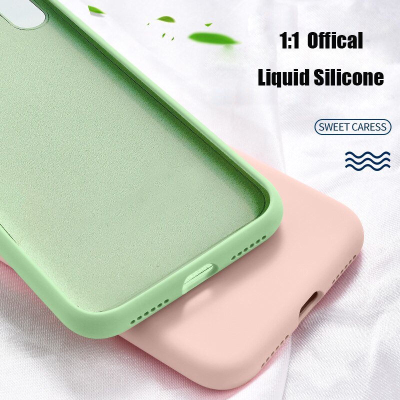 Para Samsung Galaxy A50 caso líquido Original funda de silicona para el modelo Samsung Galaxy A7 2018 A70 A20 M10 A30 M20 A40 M30 S10 S9 S8 Plus