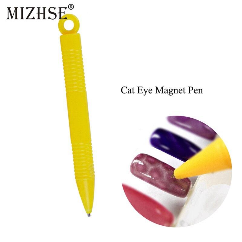 Bolígrafo magnético MIZHSE 3D con diseño de ojo de gato para dibujar uñas, herramientas de manicura DIY, efecto ojo de gato, esmalte de uñas en Gel