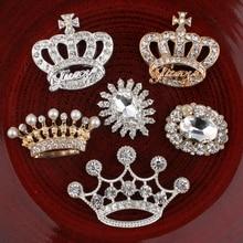 Couronne Vintage en métal 120 pièces   Ovale/fleur, boutons de fleur en cristal pour accessoires cheveux