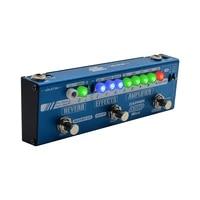 valeton dapper amp mini effect strip pedal with tuner amplifiereffectsreverb moduleplus 9v dc 1 amp power supply mes 6