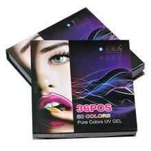 EA UV peinture Gel Arts ongles couleur Pure couverture Gel dessin Gel vernis à ongles 36 couleurs ensemble
