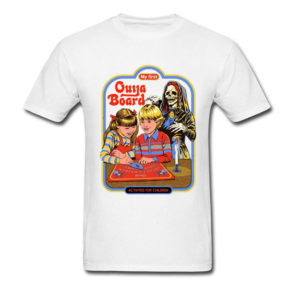 Camiseta de calavera nueva camiseta para hombre mi primera Ouija Board Demon Death Scary Camiseta de algodón con cuello redondo Camiseta historia de terror americano