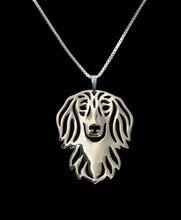 الذهب والفضة 1 قطع الصيف الأزياء الكرتون بوهو شيك سبيكة طويل الشعر الكلب الألماني قلادة الكلب قلادة مجوهرات الفضة الذهب الألوان