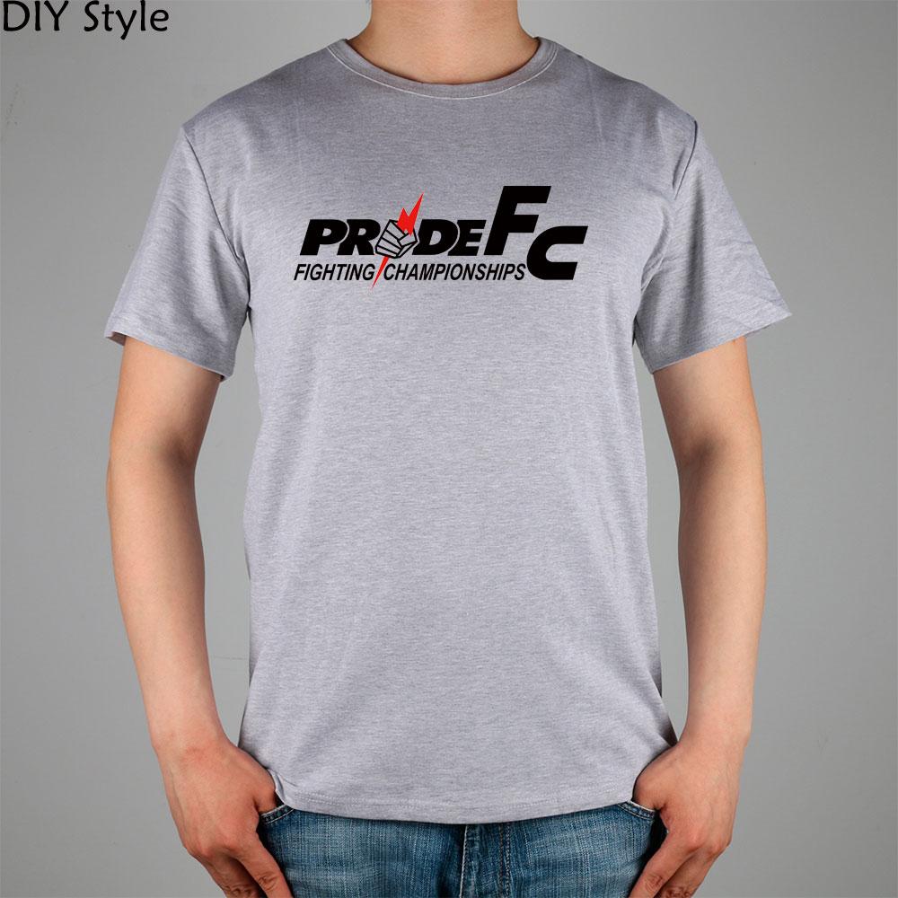 PRIDE FC MMA mixed martial men short sleeve T-shirt cotton Lycra top new arrival Fashion Brand t shirt for men summer