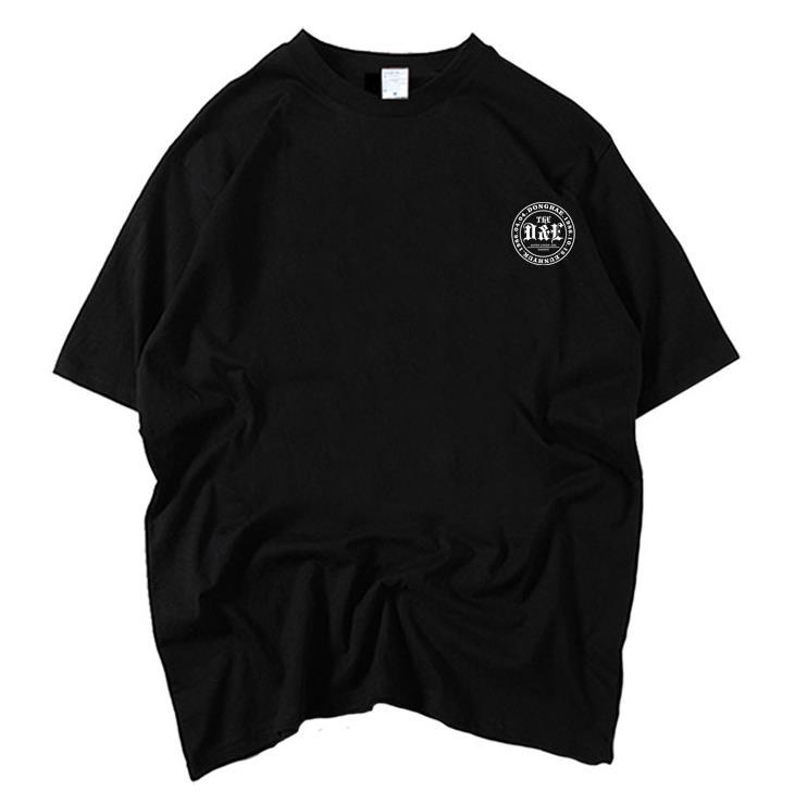 Kpop super junior d y e peligro concierto el mismo logotipo de impresión o t-camisa de cuello de verano de manga corta unisex blanco/negro