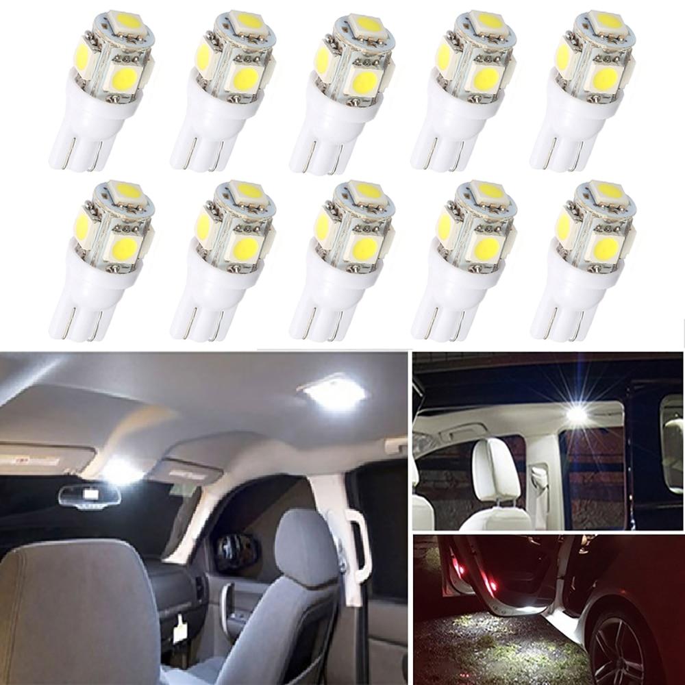10 pçs led t10 w5w lâmpada interior do carro luzes de leitura para toyota corolla avensis yaris rav4 auris hilux prius camry celica C-HR