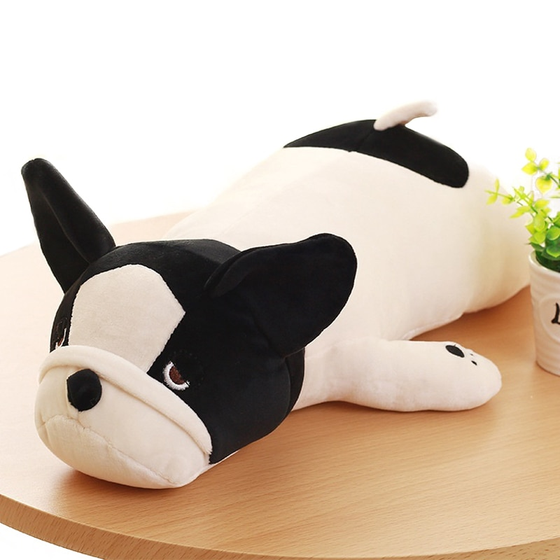 1PC 50/65/85cm Super Soft French Bulldog Plush Toys Stuffed Down Cotton  Cute Lying Dog Doll Pillows Cushions Kids Girls Gifts