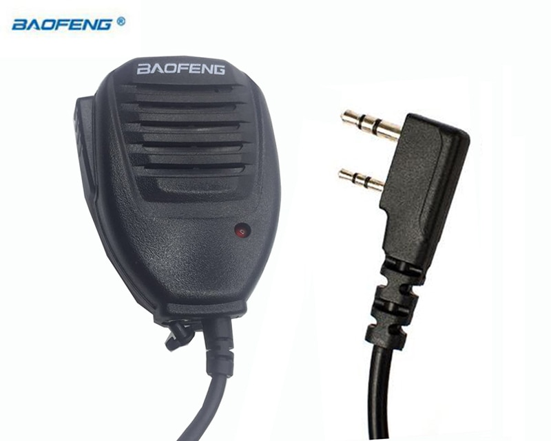 Портативная рация Baofeng ручной динамик с микрофоном ppt для Kenwood TYT ручной UV5r UV-82 Bf 888s plus UV-5R UV-6R аксессуары микрофон