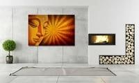 HD imprimer marron Religion bouddha peinture a lhuile sur toile art imprimer maison deco mur art photo salon decor peinture PT0268