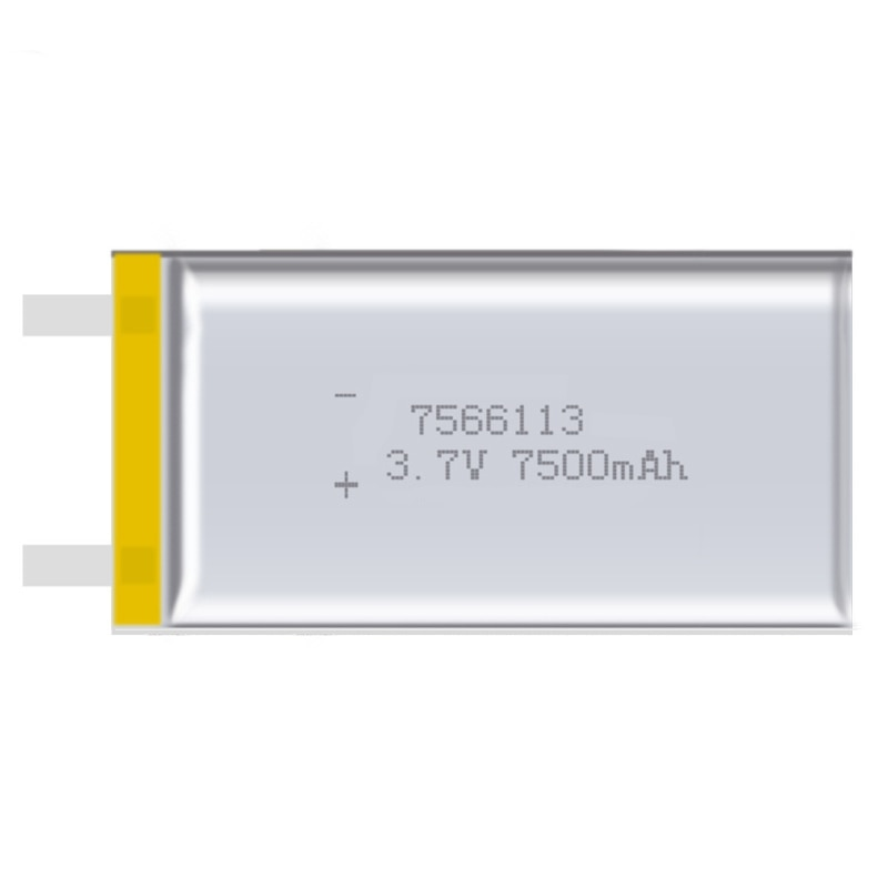 2pcs/lot 7566113 3.7V Real Capacity 7500mah Rechargeable Batteries Polymer Lithium Li-ion Battery For Digital Products недорого