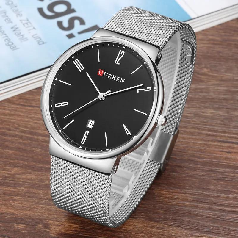 2018 אופנה שעונים הגברים Super Slim יוקרה CURREN מותג שעוני גברים ספורט גבר שעון קוורץ שעון Relogio Masculino Esportivo