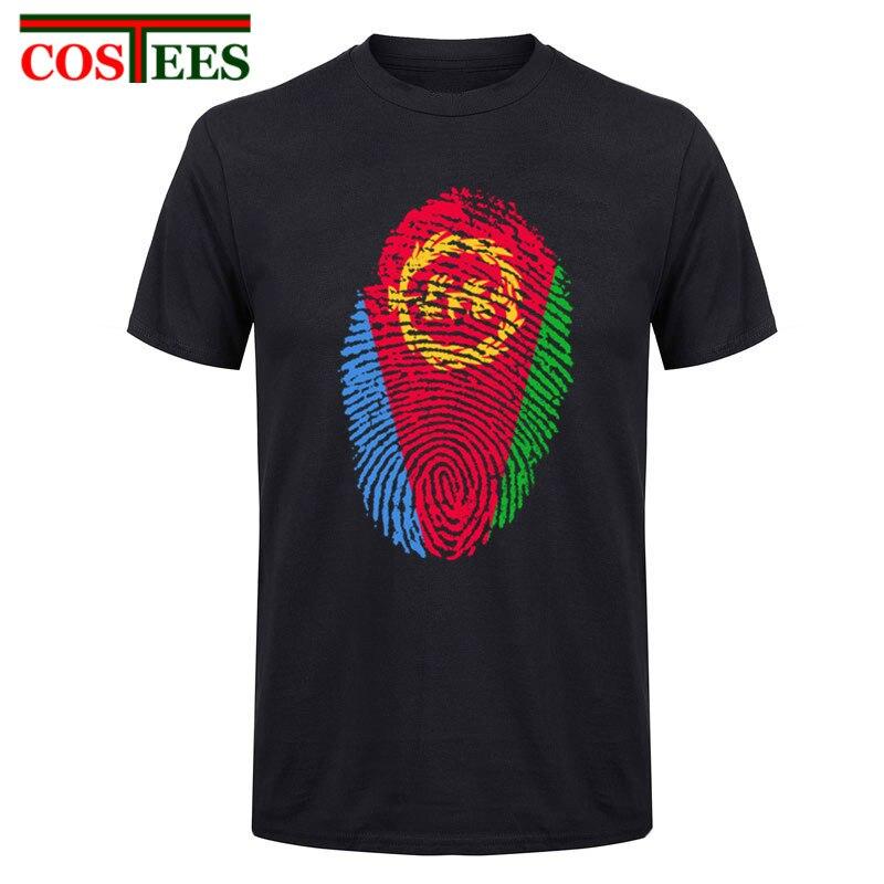 2017 New Men Fashion Man Design T-shirt Novelty Eritrea Flag Fingerprint T shirt Tops Gentleman Custom Printed Short Sleeve Tees