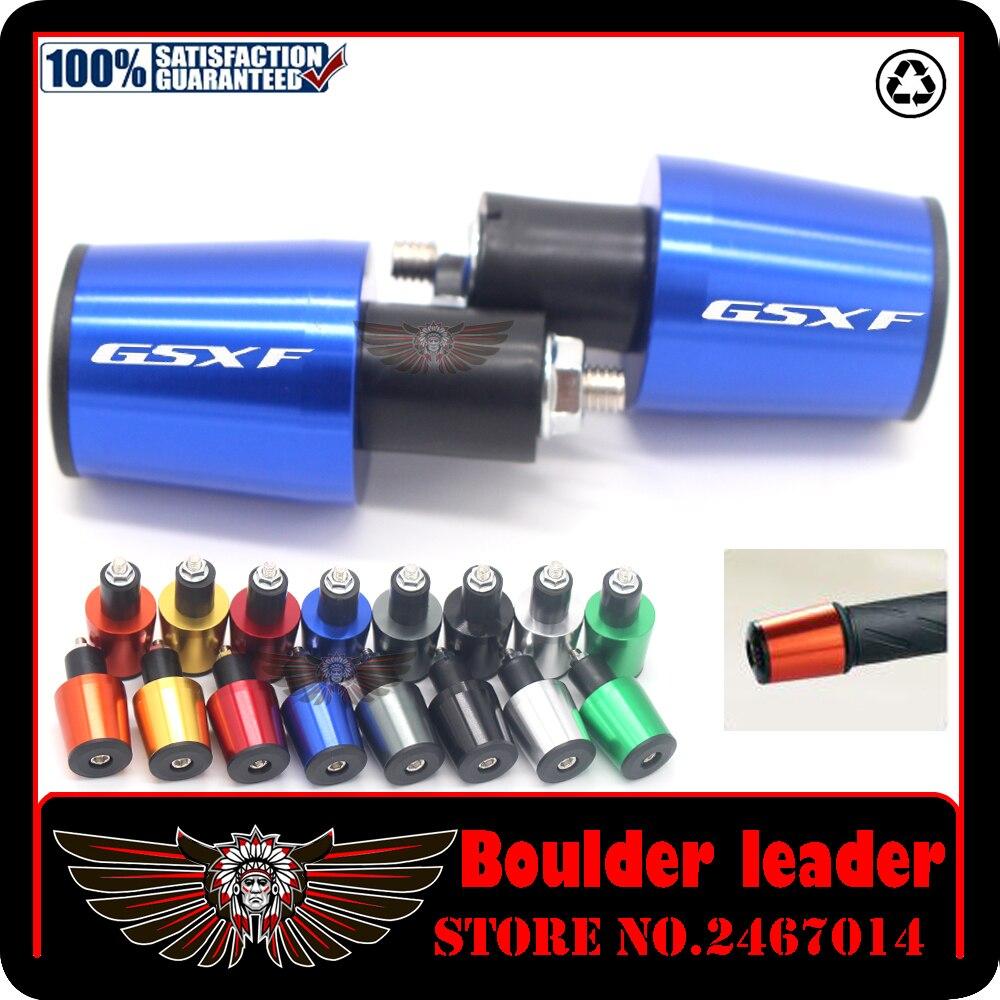 Empuñaduras para manillar de motocicleta de 7/8 22MM, tapa del manillar, tapones para los extremos de Suzuki GSX 650F GSXF 650 F GSX650F