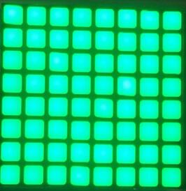 Envío Gratis 5 uds x 6mm 8X8 Jade Verde Azul Rojo blanco cuadrado LED de matriz de tubo Digital Módulo De Pantalla LED 2488BGG 2488BB