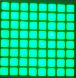 FREE SHIPPING 5PCS x 6mm 8X8 Jade Green Blue Red White Square LED Dot Matrix Digital Tube  LED Display Module 2488BGG 2488BB