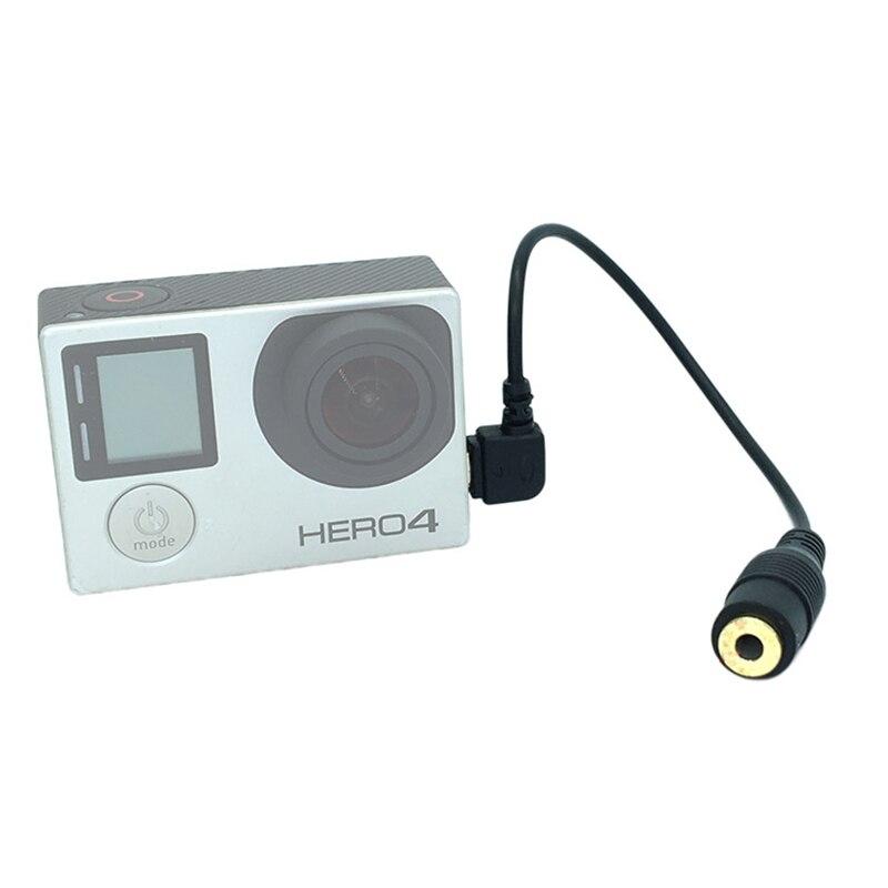 3.5mm micro Mini USB externe micro Audio Adapte câble de transfert fil pour GoPro Hero4 Hero3 + Go Pro accessoires caméra daction