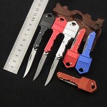 New Key Fold Knife Key Pocket Knife Key Chain Knife Peeler Mini Camping Key Ring Knife Tool