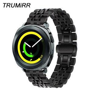 20mm Premium Stainless Steel Watchband +Tool for Samsung Gear Sport SM-R600 Watch Band Quick Release Strap Wrist Bracelet Black