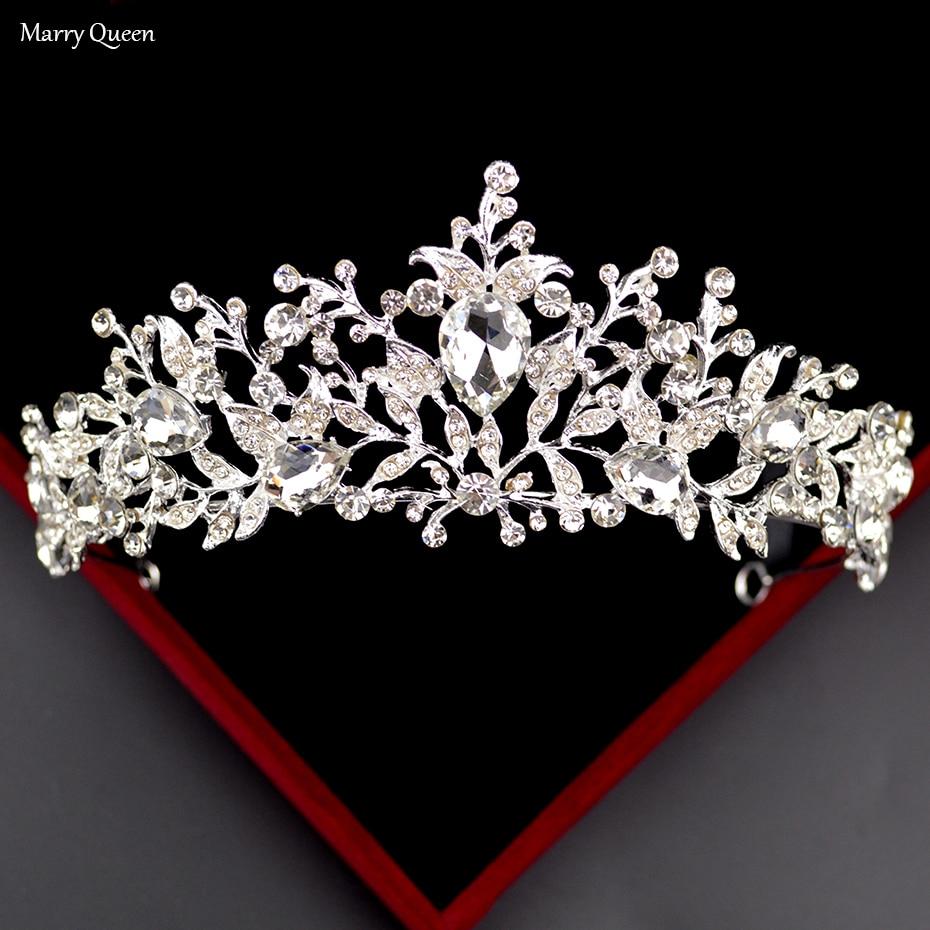 Corona de diamantes de imitación hecha a mano de Japón y Corea del Sur con forma de hoja de viento, cristal dorado y plateado, tocado de boda para novia