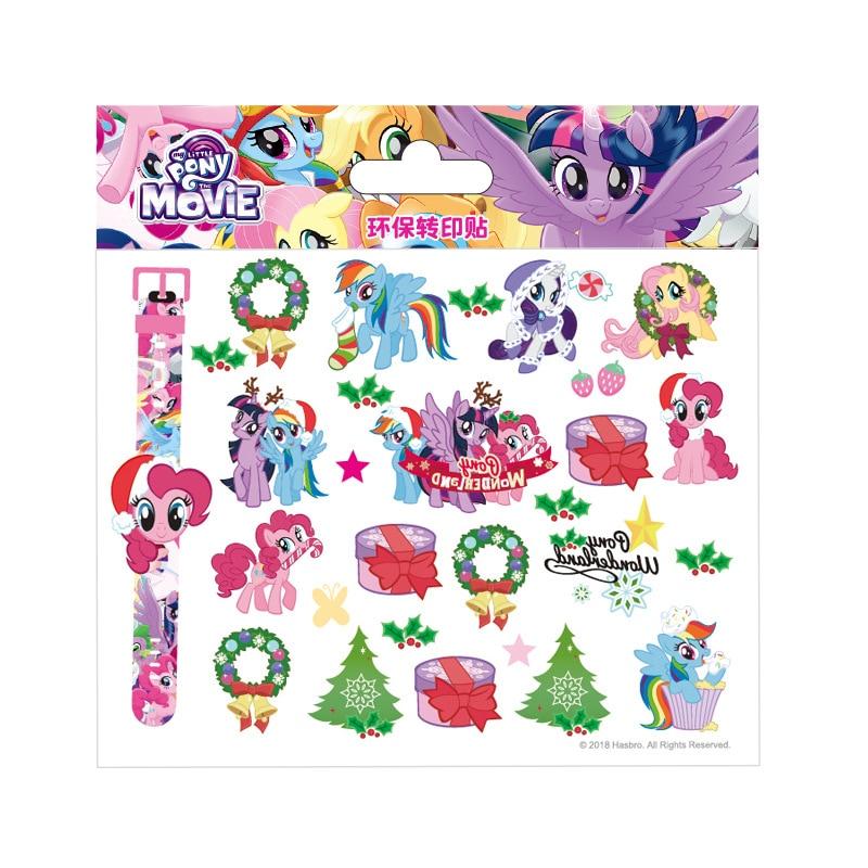 Genuine My Little Pony stickers children cartoon tattoo stickers Personality waterproof tattoo stickers toys