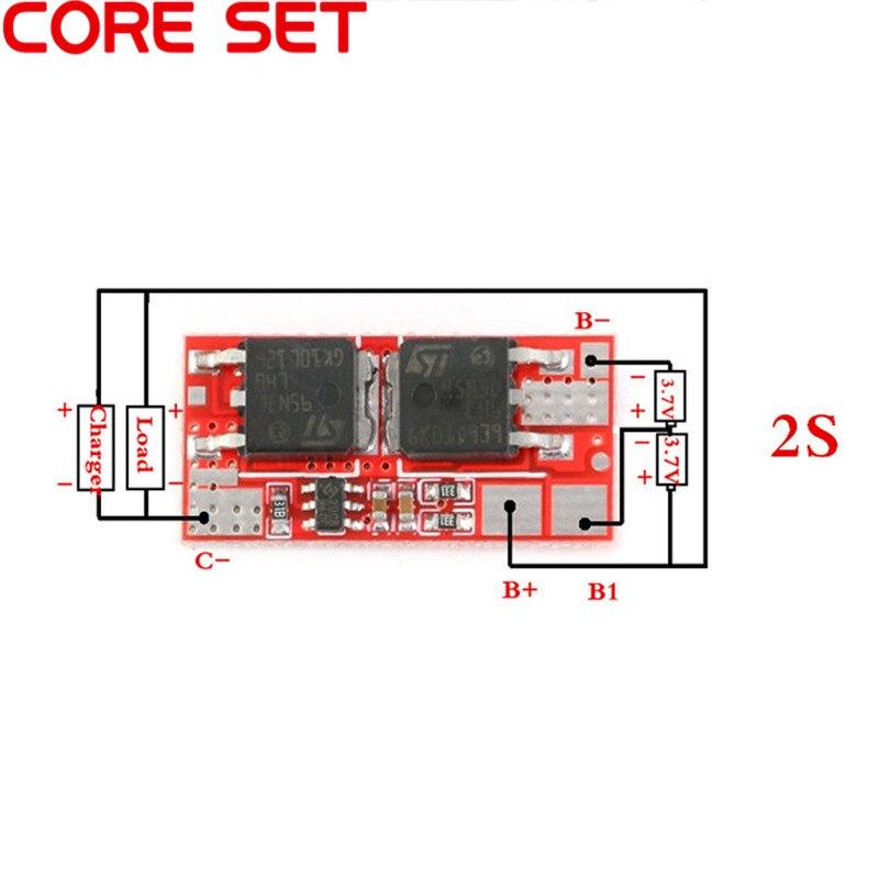 10A BMS 2 S 8.4 V PCM PCB BMS Lityum Şarj Modülü Şarj 18650 Li-ion Lipo 2 S Pil Koruma devre
