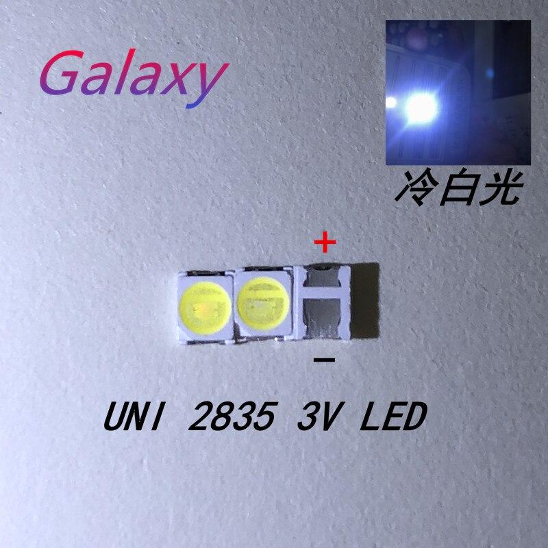 100 Uds UNI luz de fondo LED de alta potencia 1W 3V 1210 3528 2835 blanco fresco iluminación LCD trasera para TV aplicación MSL-628KSW