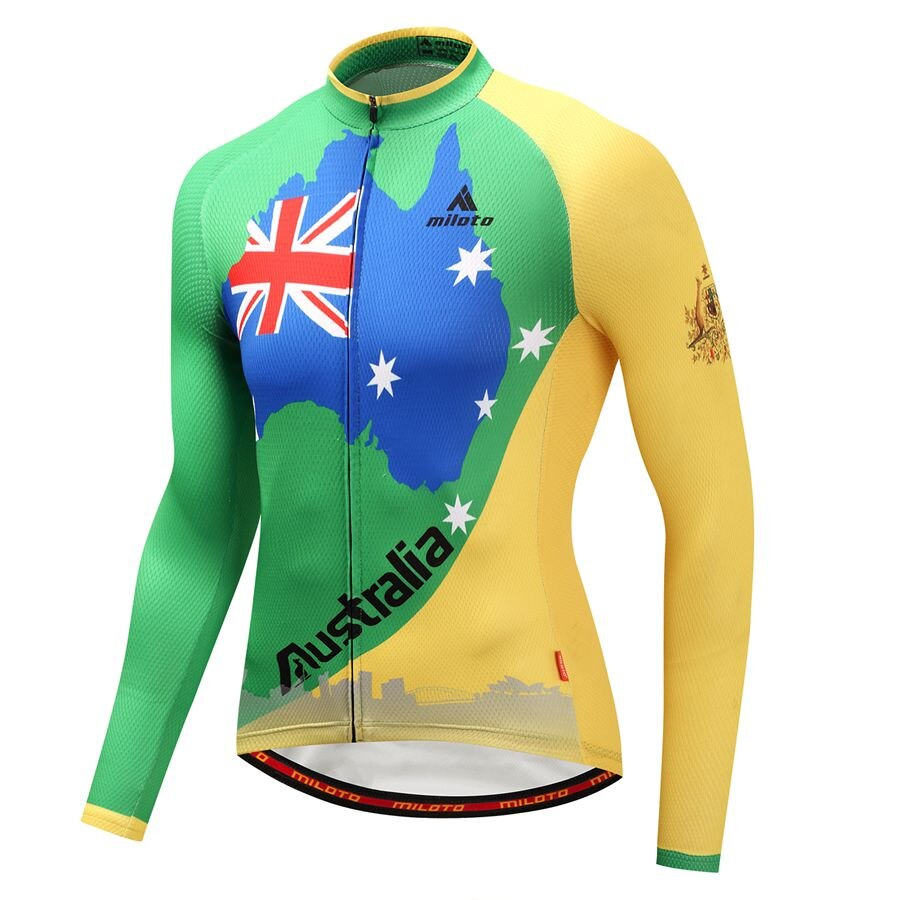 Camiseta de Australia Miloto hombres manga larga Jersey ciclismo ropa Ciclismo ropa ciclismo ropa deportiva al aire libre Maillot Ciclismo