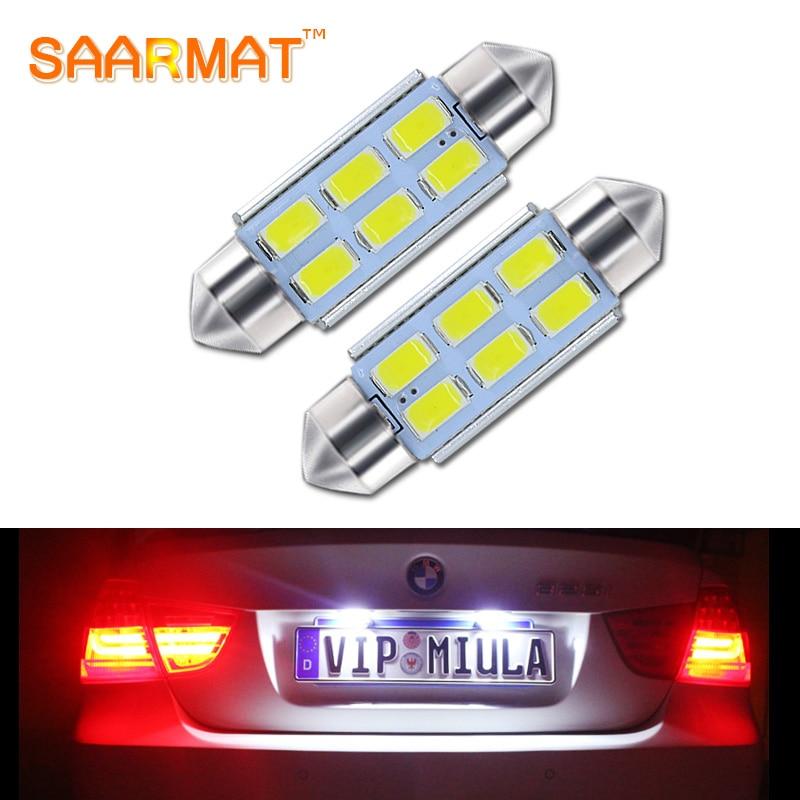 2Pcs C5W 39mm Canbus Error Free License Number Plate Light  LED Bulbs  For BMW 3 5 series E36 E46 E34 E39 E60 X5 E53(00-07) M5