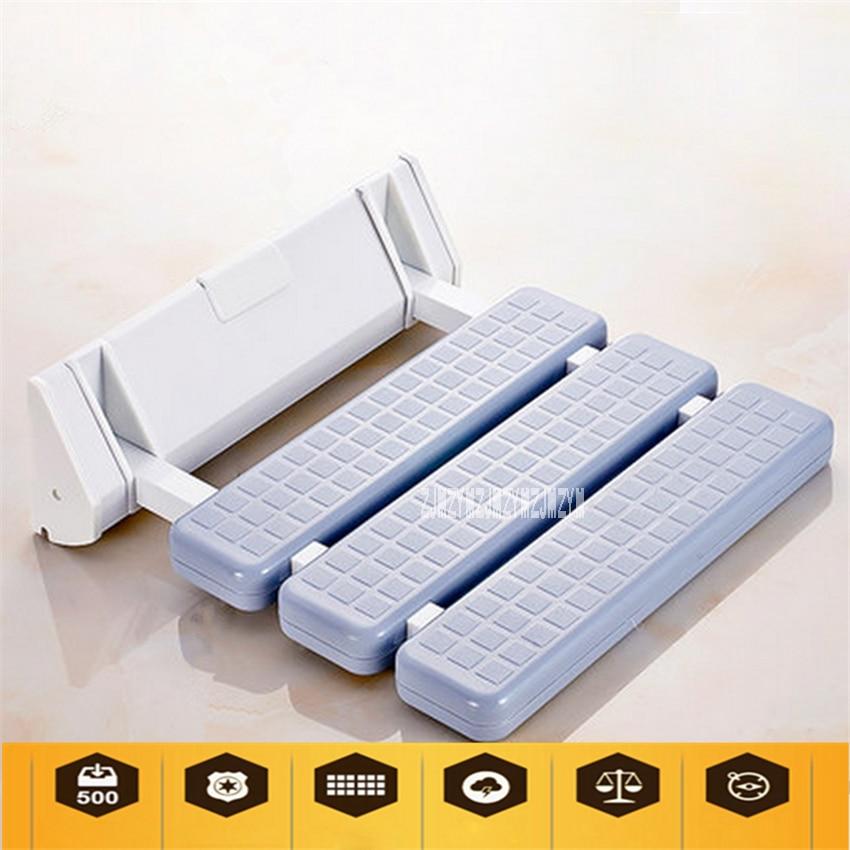 مقعد دش مثبت على الحائط مصنوع من سبائك الألومنيوم عالي الجودة وغير قابل للانزلاق للحمام ، ومقعد دش قابل للطي ، ومقعد حمام