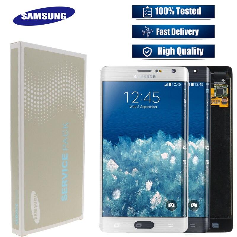 100% nuevo Original AMOLED 5,6 pulgadas LCD para Samsung Galaxy Note4 Edge N915 N9150 N915F LCD componentes de la pantalla táctil prueba de 100%