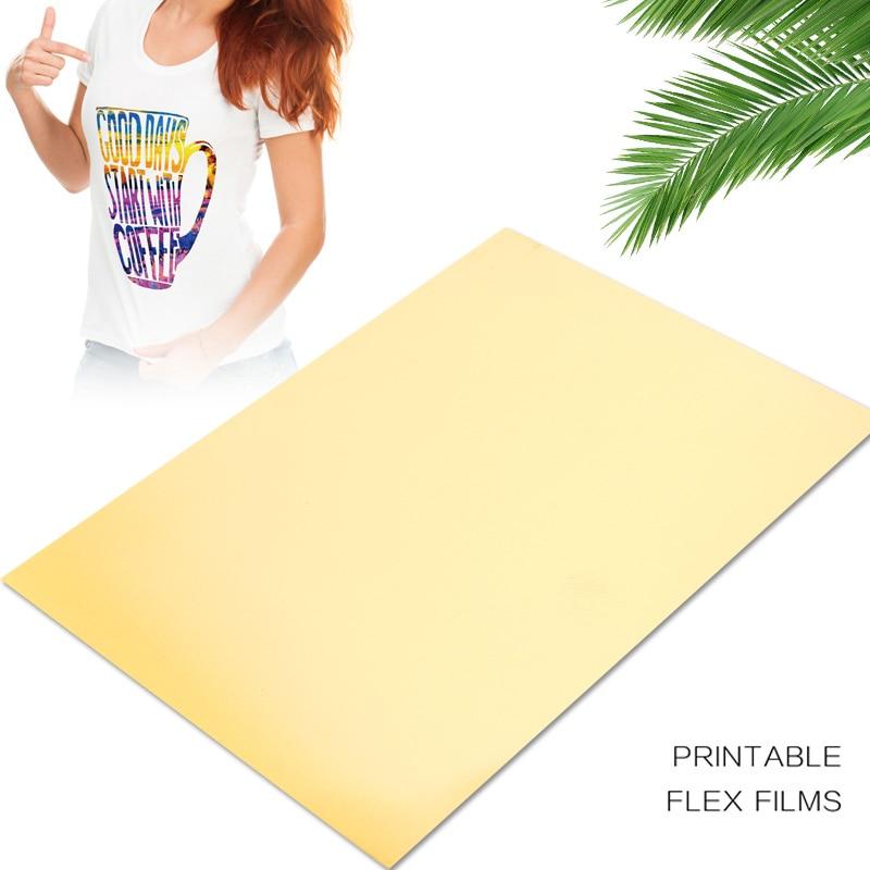 Heat Transfer Paper Gold A4 Light Fabrics Diy Durable Picture Inkjet Printers Textiles Creative T-Shirt Heat Transfer Film