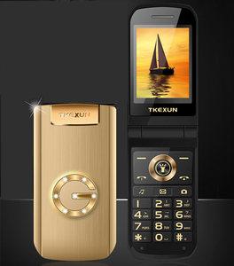 Раскладной Металлический телефон TKEXUN G9000 G3 с большой клавиатурой/звуком, для пожилых людей/мужчин, подарок для родителей, русский и французс...