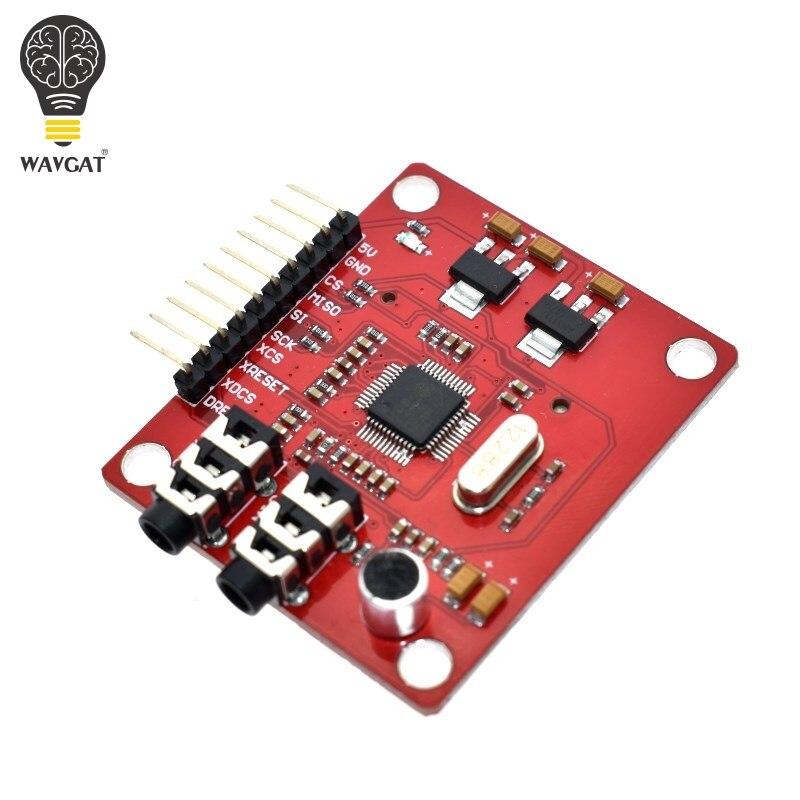 WAVGAT VS1053 VS1053B módulo MP3 para Arduino UNO Placa de ruptura con ranura para tarjeta SD Ogg Grabación en tiempo Real para Arduino UNO