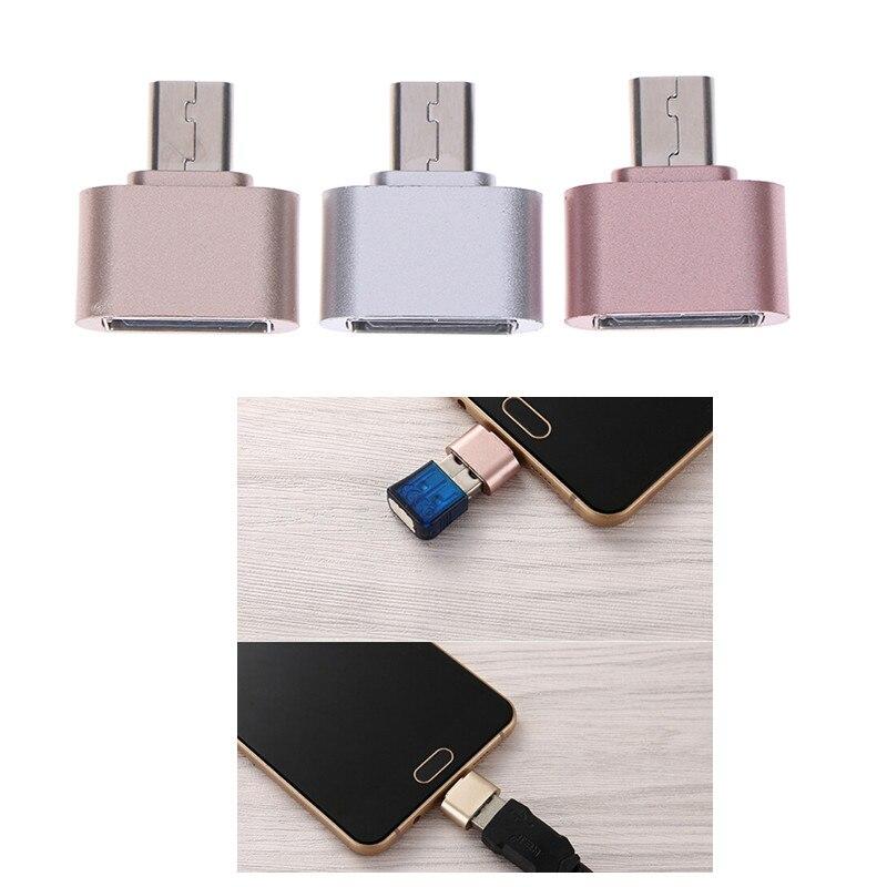 Micro USB OTG 2,0 abrazo convertidor adaptador OTG para Android Teléfono Cable lector de tarjeta Flash Drive OTG Cable lector