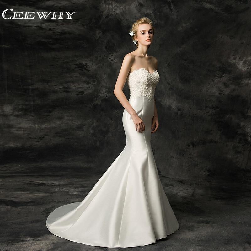 CEEWHY fuera del hombro mujeres Vestido de novia de sirena Boda Vestido de novia Hochzeitskleid Vestido de novia Vestido Boda