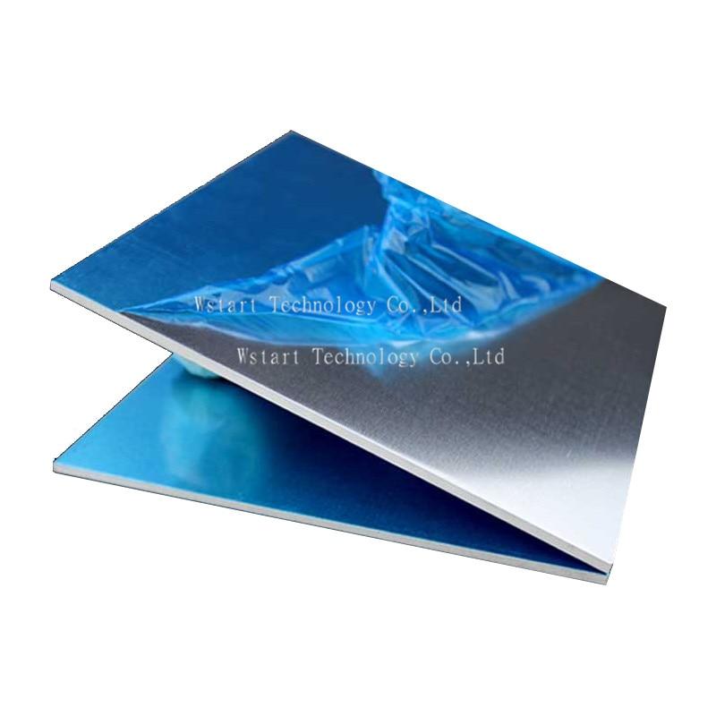 Placa de aluminio 6061 hoja de aluminio 425mm x 425mm x 4mm aleación de aluminio diy 1 Uds