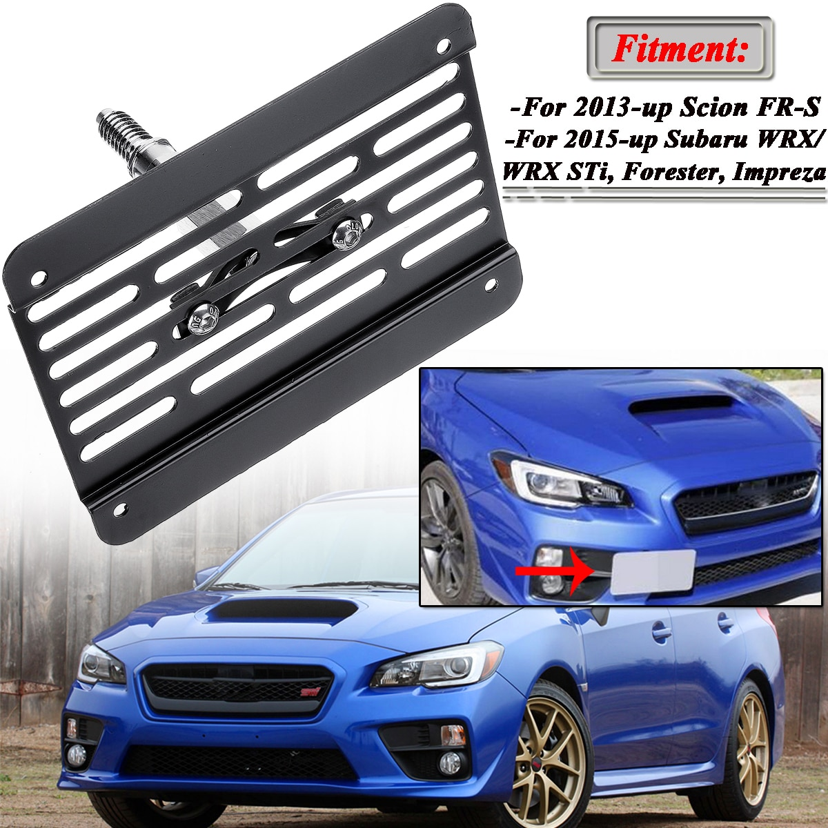 New Front Bumper Tow Hook License Plate Frame Holder Relocator Mounting Bracket For Subaru Wrx Sti 2015 Up Scion Fr S 2013 Up Leather Bag