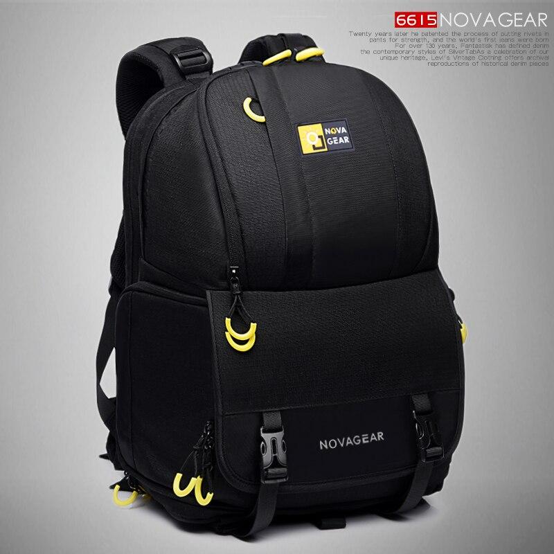 NOVAGEAR 6615, bolsa para cámara DSLR, mochila para cámara, mochila Universal de gran capacidad para cámara de viaje, mochila para cámara Canon/Nikon
