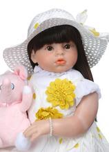 70 cm fait à la main bébé filles poupées réaliste doux Silicone Reborn bambin poupées réaliste vinyle bébés princesse poupées jouets pour enfants