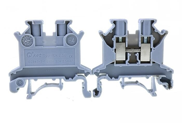 50Pcs UK2.5B CE approved UK-2.5B DIN rail Terminal blocks Phoenix type high quality