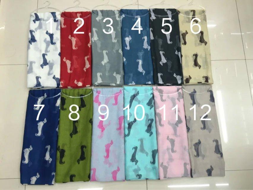 2019 nuevo primavera diseño de perro bufanda Animal mujeres bufanda chales envuelve 13 colores venta al por mayor 10 unids/lote envío gratis