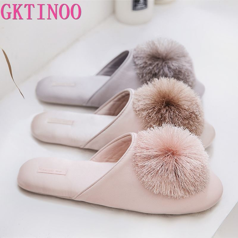 GKTINOO Cute Women Slippers Home Indoor Women House Shoes Summer Ladies Slides